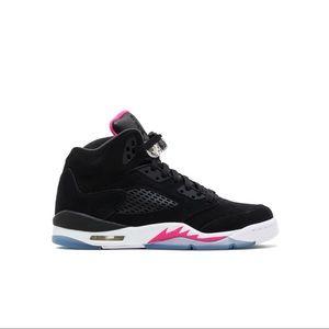 Jordan 5 Retro Black - Black Deadly Pink - White
